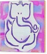 Fresh Ganesh 3 Wood Print by Tony B Conscious