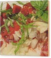 Fresh Garden Salad - Tomato Wood Print