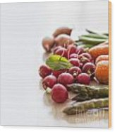 Fresh Garden Vegetables Wood Print