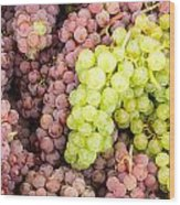 Fresh Grapes On Display Wood Print
