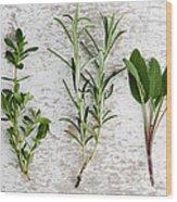 Fresh Herbs Wood Print