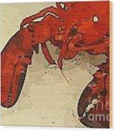 Fresh Lobster Wood Print