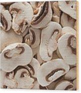 Fresh Mushrooms Wood Print