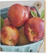 Fresh Nectarines Wood Print