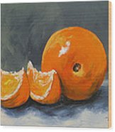 Fresh Orange IIi Wood Print by Torrie Smiley