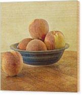 Fresh Peaches Wood Print