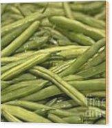 Fresh Picked Beans Wood Print