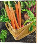 Fresh Picked Healthy Garden Vegetables Wood Print