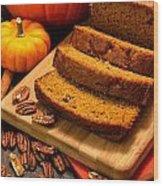 Fresh Pumpkin Bread Wood Print