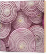 Fresh Red Onion Wood Print