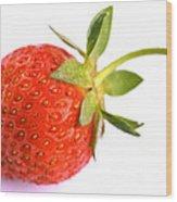 Fresh Red Strawberry Wood Print