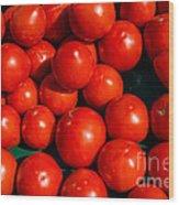 Fresh Ripe Red Tomatoes Wood Print