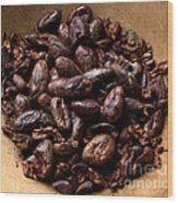 Fresh Roasted Cocoa Beans - Nibs Wood Print
