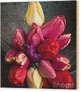 Fresh Spring Tulips Still Life Wood Print