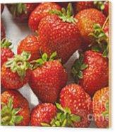 Fresh Strawberry Wood Print