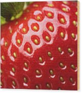 Fresh Strawberry Close-up Wood Print