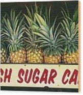 Fresh Sugar Cane Wood Print