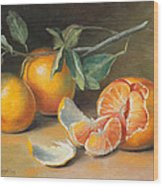 Fresh Tangerine Slices Wood Print by Theresa Shelton