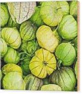 Fresh Tomatillos Wood Print