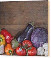 Fresh Vegetables Wood Print
