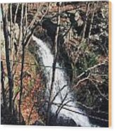 Fresh Water Streams Around Poconos Pa America Usa  Wood Print