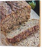 Fresh Zucchini Bread Wood Print