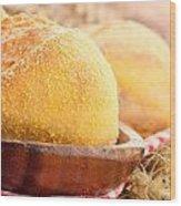 Freshly Baked Bread  Wood Print