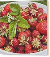 Freshly Picked Strawberries Wood Print