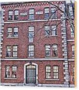 Freshman Dormitory-harvard University V2 Wood Print