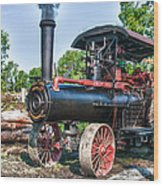 Frick Steam Tractor Wood Print