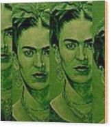 Frida 4u Wood Print