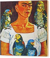 Frida In Tlaquepaque Wood Print