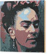 Frida Kahlo In Colour Wood Print