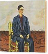 Frida Kahlo Self-portrait With Cropped Hair Autorretrato Con Pelo Cortado Wood Print