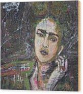 Frida Y Cigarrillos Wood Print