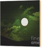 Friday The 13th Moon And Dragons Wood Print