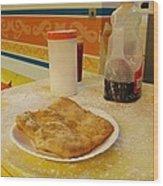 Fried Dough Wood Print