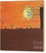 Friendly Sunset Wood Print