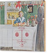Friends From The Town - Dining Room Wood Print