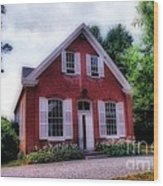 Friends Meeting House Wood Print by Skip Willits