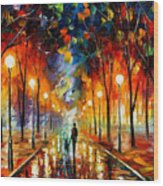 Friendship - Palette Knife Oil Painting On Canvas By Leonid Afremov Wood Print