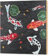 Friendship Underwater Big Commissioned Painting Wood Print