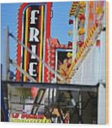 Fries At The Fair Wood Print