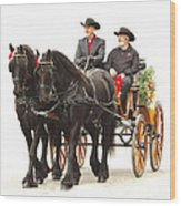 Friesian Carriage Wood Print