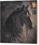 Friesian Glow Wood Print