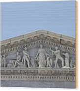 Frieze - Capitol - Washington Dc Wood Print