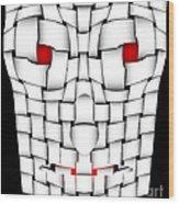 Frightening Mask Wood Print