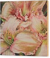 Frilly Pinks Wood Print