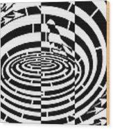 Frisbee Toss Maze  Wood Print