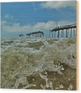 Frisco Pier Water Level View 1 5/24  Wood Print